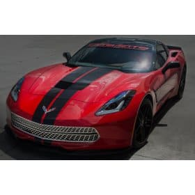 C7 Corvette Stingray - 3Pc Polished Front Grille Expanded Diamond Pattern with Brushed Trim