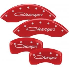 2005-2010 Dodge CHARGER (CURSIVE) 2.7L, 3.5L V6 Red Caliper Cove