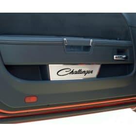 2008-2014 Dodge Challenger Door Badge Plates - Classic Challenger Script