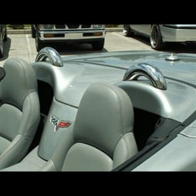 Corvette C6 Polished Stainless Convertible Dress Up Hoops