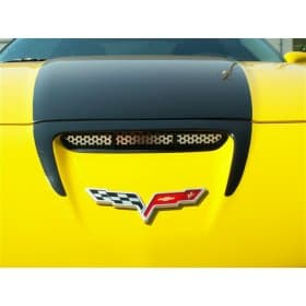 C6 Corvette  Z06 Perforated Stainless Hood Vent Grills