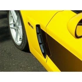 Corvette C6 Z06 Perforated 2-pc Stainless Vent Grills