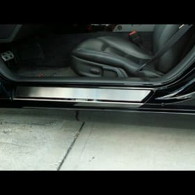 Corvette C6 Deluxe Stock Doorsills Polished w/Brushed Inserts