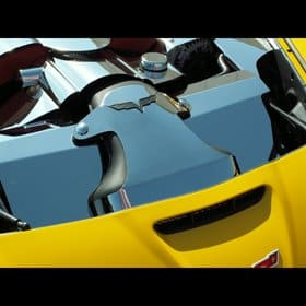 C6 Corvette /Z06 Polished Stainless 2-pc Air Tube Cover