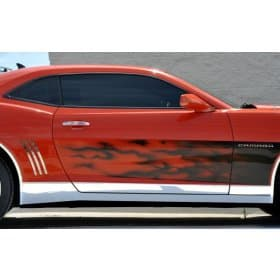2010-2015 Camaro Deluxe Polished Stainless Steel Rocker Panel Ki