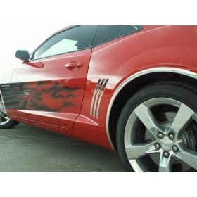 2010-2015 Camaro Stainless Steel Rear Quarter Trim