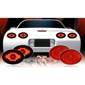 Corvette C5 Max Red L.E.D Tail Lights (97-04)