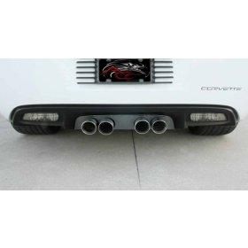 Corvette C6 Exhaust Filler Panel NPP - Blakk Stealth