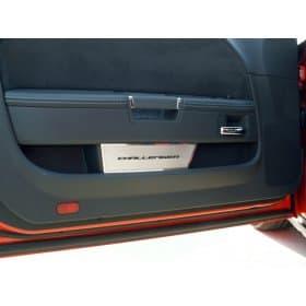 Dodge Challenger Door Badge Plate Brushed/Carbon