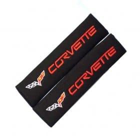 C6 Corvette Seat Belt Rub Shoulder Guards Pads