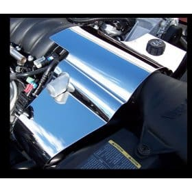 C6 Corvette  Polished Stainless 2pc Radiator Cover Component Part