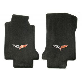 C6 Corvette Floor Mats 2005-07 Early (Post)Ebony