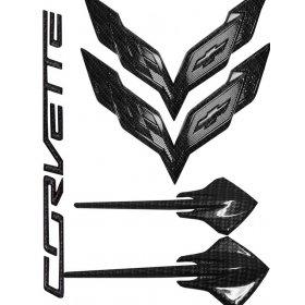 C7 Corvette Hydro Carbon Fiber Emblems Package