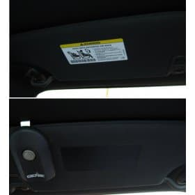 Dodge Challenger Visor Airbag Warning Label Covers