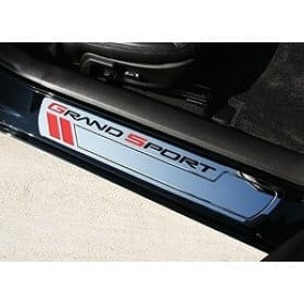 C6 Corvette  Grand Sport Door Sill Plates - Chrome Billet