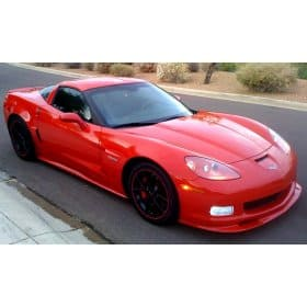 C6 Corvette  ZR1 Style Side Skirts Package Painted