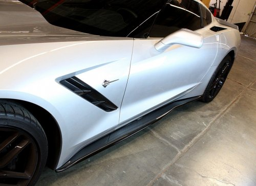 C7 Corvette Stingray APR Real Carbon Fiber Side Rocker Extension