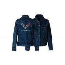 C7 Stingray Womens Rhinestone Denim Jacket
