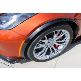 C7 Z06 CARBON FIBER FRONT WHEEL TRIM MOLDINGS - PAIR