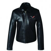 C7 Corvette Stingray Ladies Leather Bomber Jacket