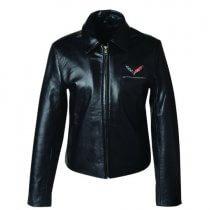 C7 Corvette Stingray Ladies Leather Bomber Jacket