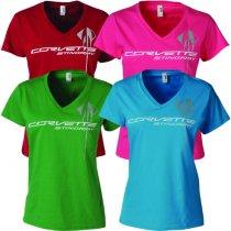 Corvette Stingray Ladies Triple Mark T-Shirt