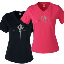 C7 C7 Corvette  Stingray Ladies Rhinestone V-Neck Tee
