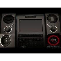 2010-2014 Ford F150/Raptor Dash Trim Rings Headlight/4WD/12V 3Pc Polished