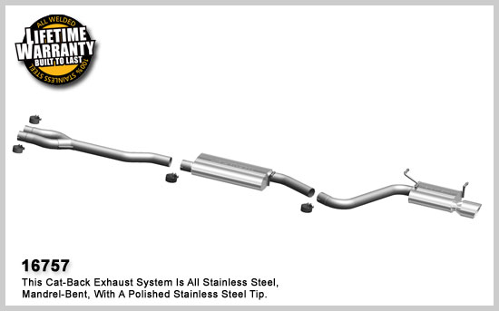 Single Exit Cat-Back Exhaust for the Dodge Challenger