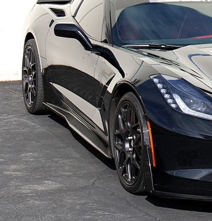 C7 Corvette Stingray APR Carbon Fiber Side Rocker Skirts