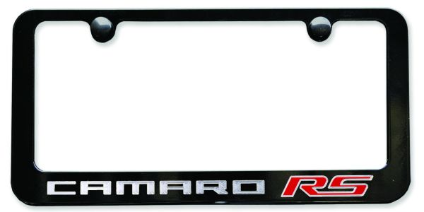 camaro rs license plate frame