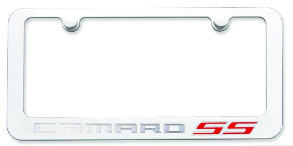 camaro exterior modification paint matched camaro license plate frame