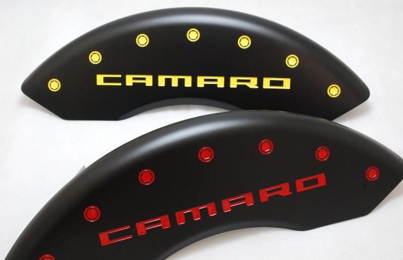 Stealth Black Custom Camaro Caliper Covers