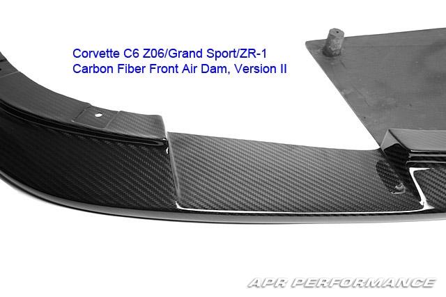 Carbon Fiber Corvette Version II Front Splitter
