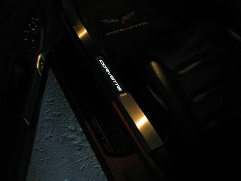 C6 Corvette Led Door Sill Plates C6 Corvette Interior Led Lighting