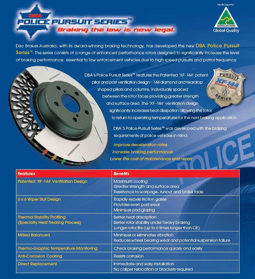 Police Pursuit DBA Brake Rotors
