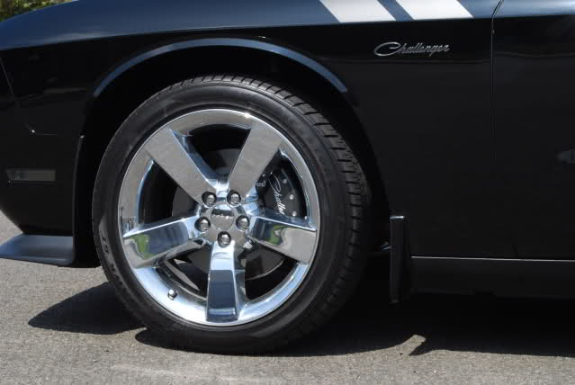 Challenger Caliper Covers Carbon Fiber with Script Lettering