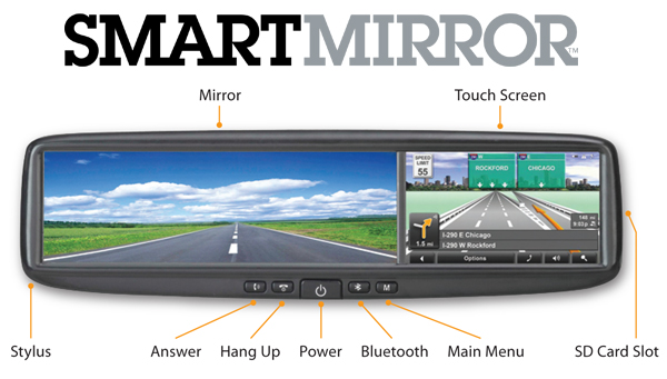 Escort Smart Mirror, GPS Rear View Mirror