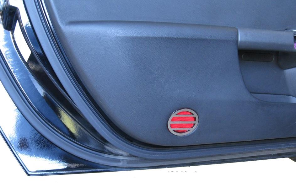 C6 Corvette parts, C6 Corvette accessories, C6 Corvette interior door reflector cover
