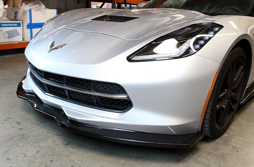2014 2018 C7 Corvette Stingray Apr Real Carbon Fiber Front