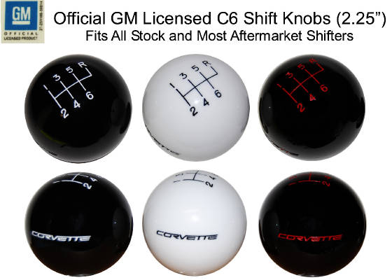 Corvette 6-Speed Licensed Shift Knob