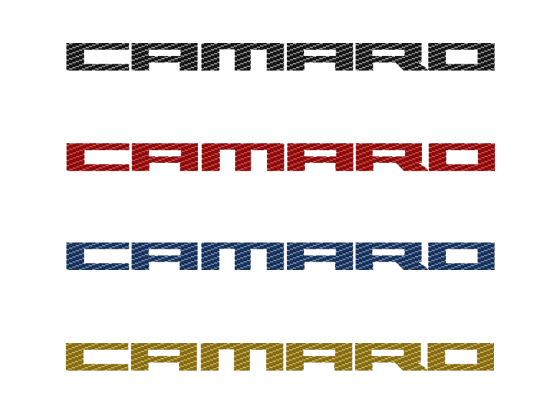 Camaro Carbon Fiber Emblems