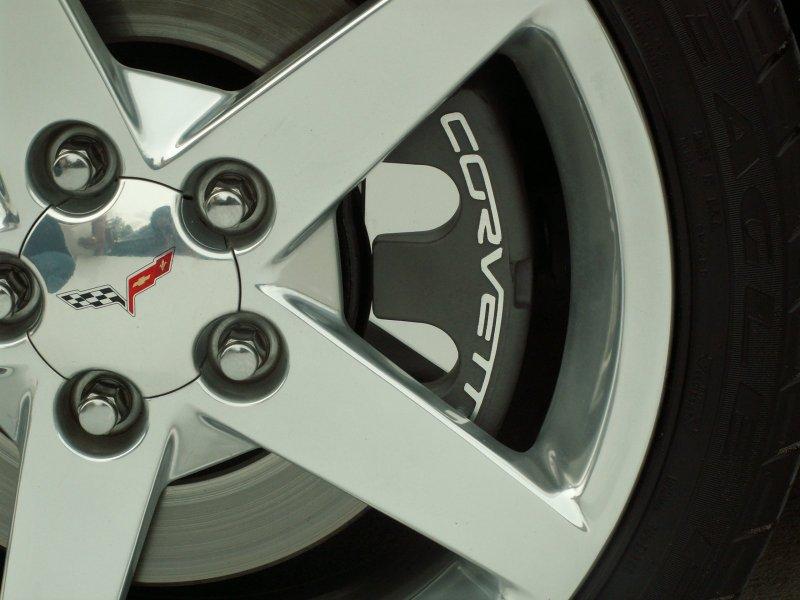 C6 Corvette Brake Pad Covers 4Pc Polished