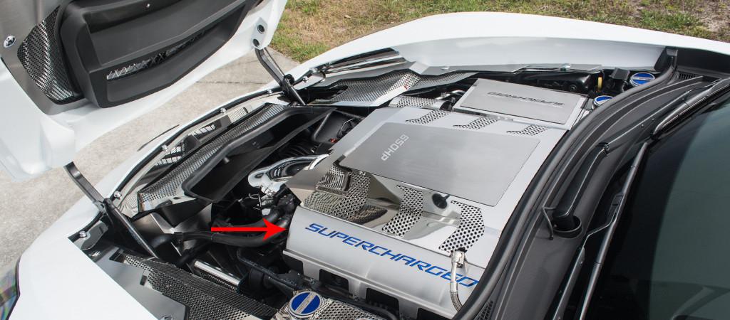 2014-2016 Z06 Corvette Stingray - Fuel Rail Covers SUPERCHARGED