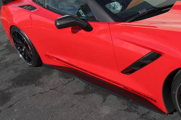 APR Corvette C7 Carbon Fiber Side Skirts