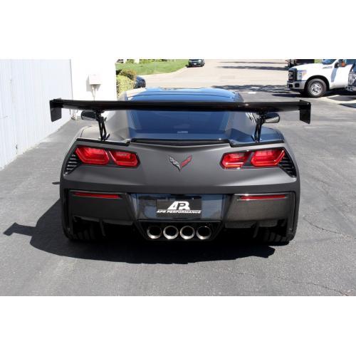 C7 Corvette GTC-500 Adjustable Wing with Spoiler Delete