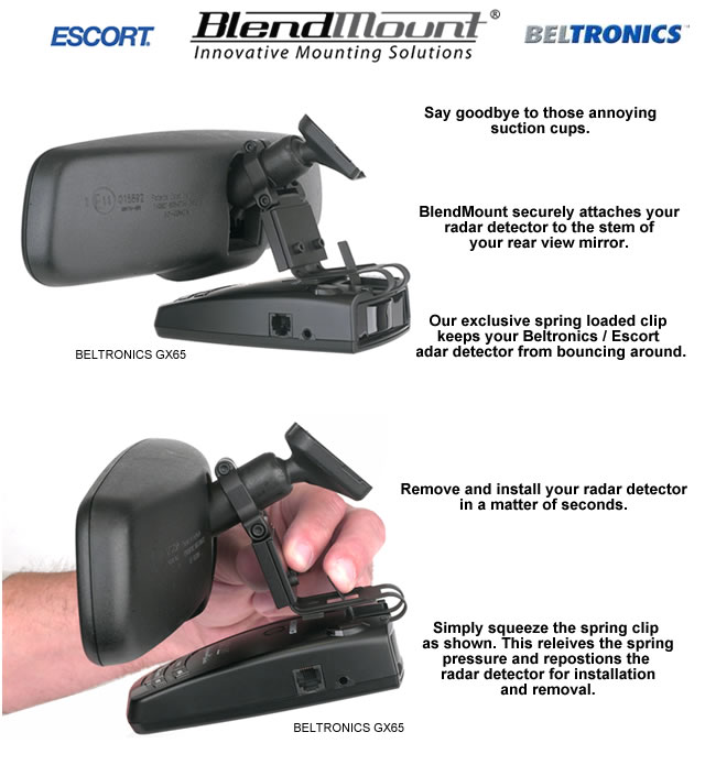 Escort Radar Detector Mirror Mount