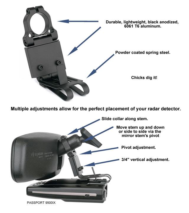 Escort Radar Detector Challenger Mount