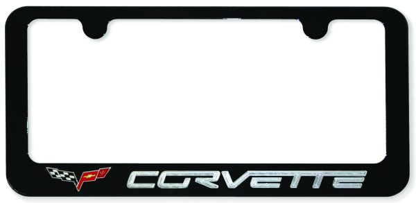 corvette painted license plate frame 1jpg