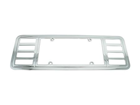 corvette license plate frames - White License Plate Frame